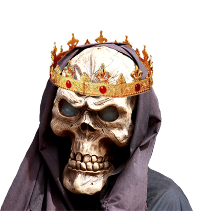 evil skull with crown