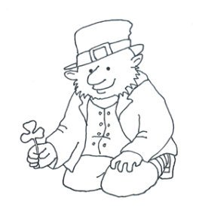 sketch of leprechaun shamrock