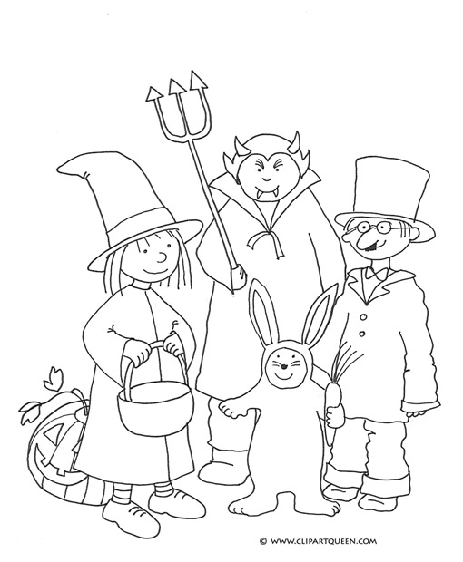 Free Halloween coloring pages for kids witch pumpkin