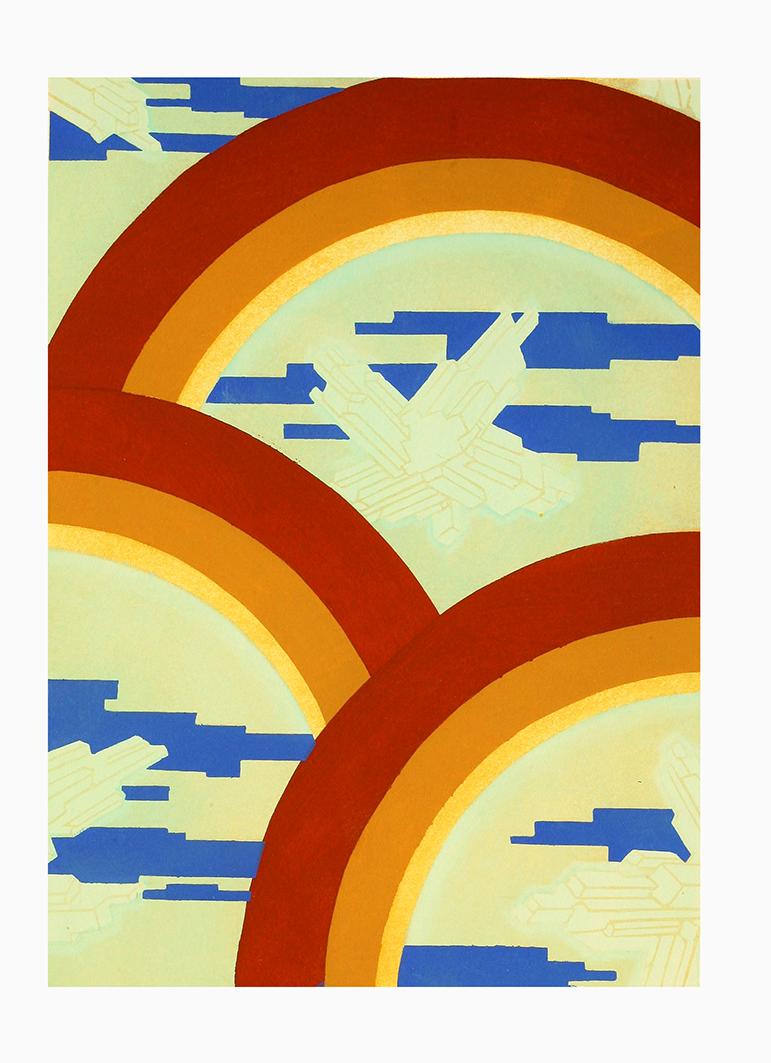 art deco planche pattern