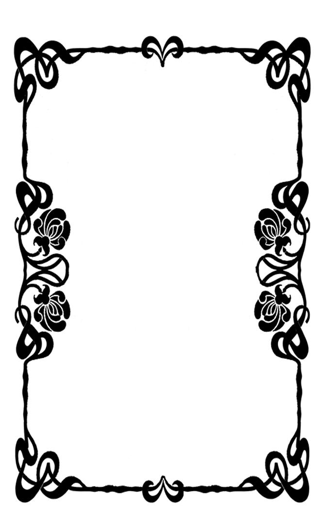 ornament frame art nouveau