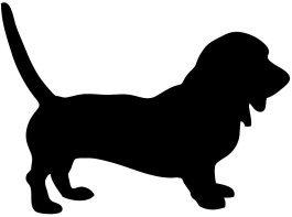 silhouette Basset hound