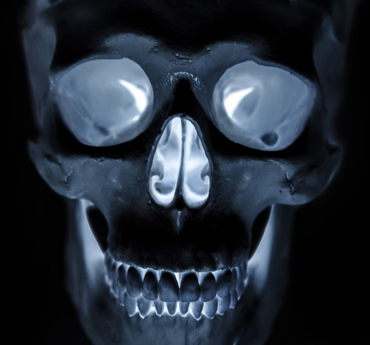 scary scull for Halloween