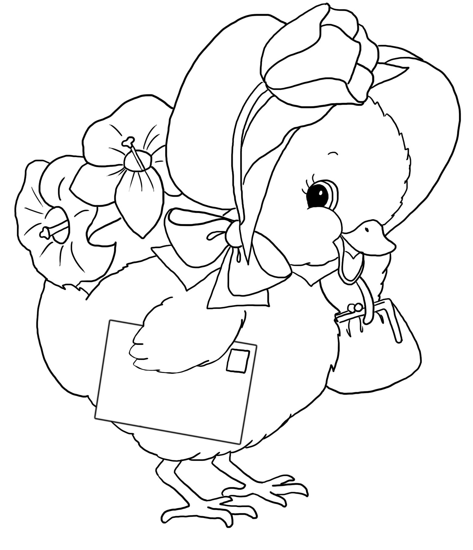 funny Easter sheet chicken letter flowers