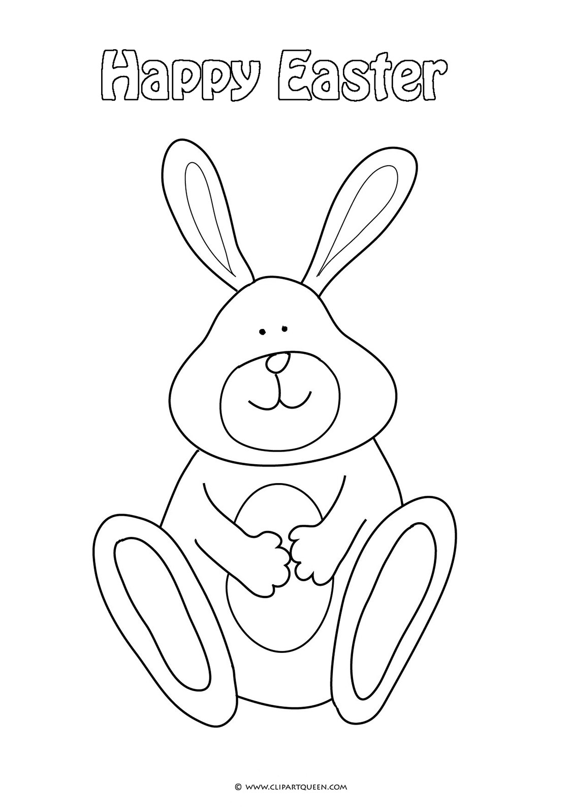 Cute bunny for coloring
