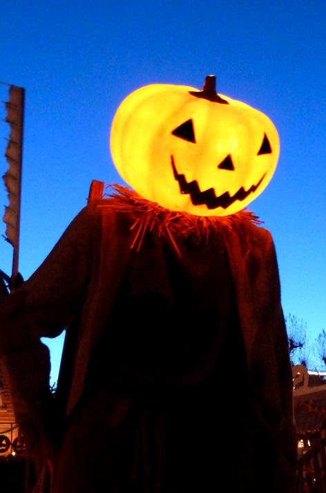 tall pumpkin man
