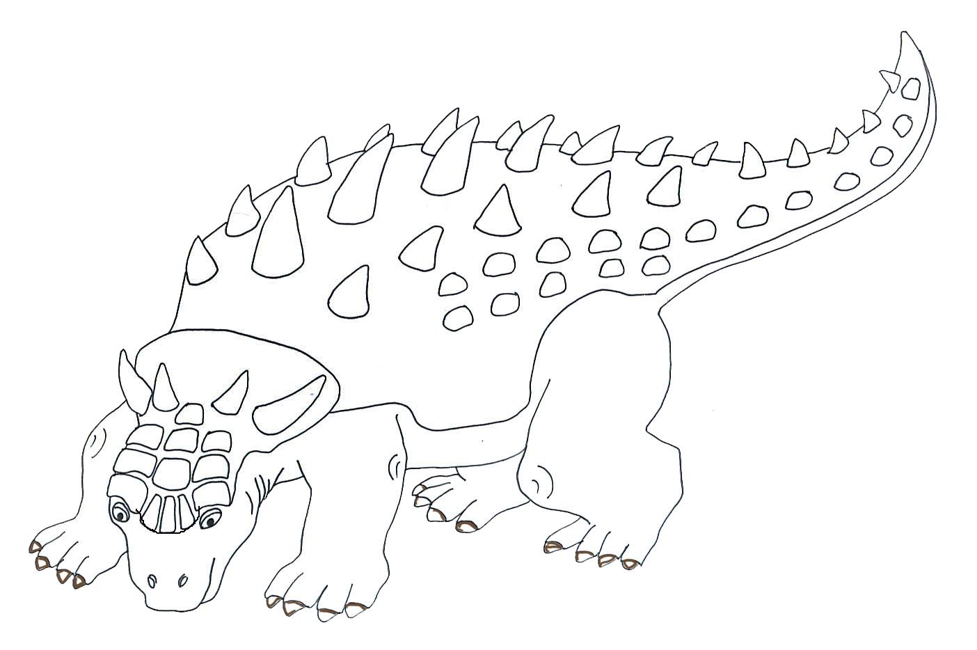 drawing of Anchylosaurus