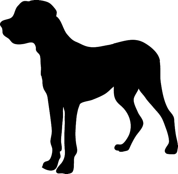 silhouette graphics big dog clipart