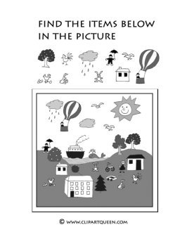 Printable kindergarten activities drawing