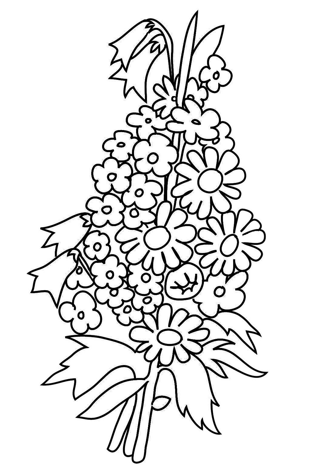 bouquet to color