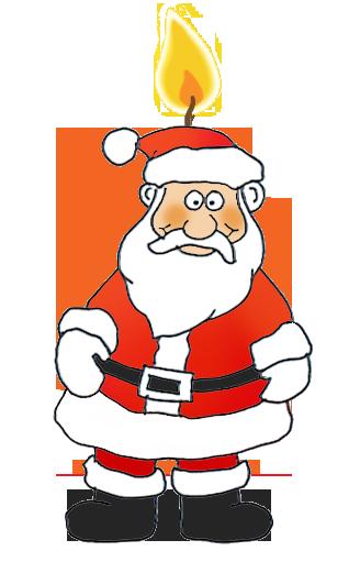 Santa as a Christmas candle