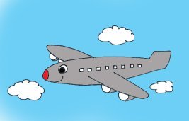 travel by fly clip art