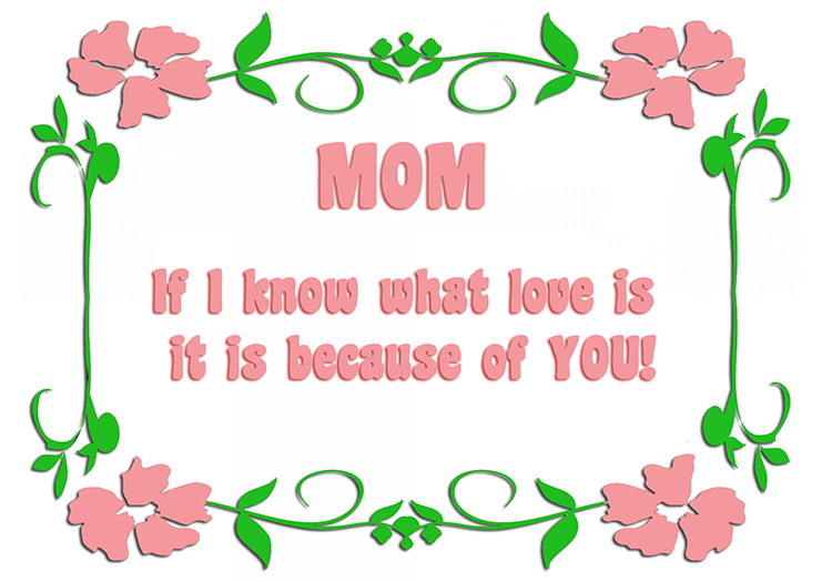 mother's day greeting about love