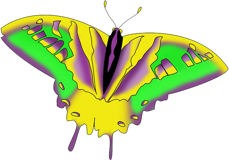 swallowtail butterfly clipart