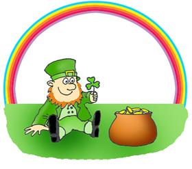st patricks day clipart rainbow gold