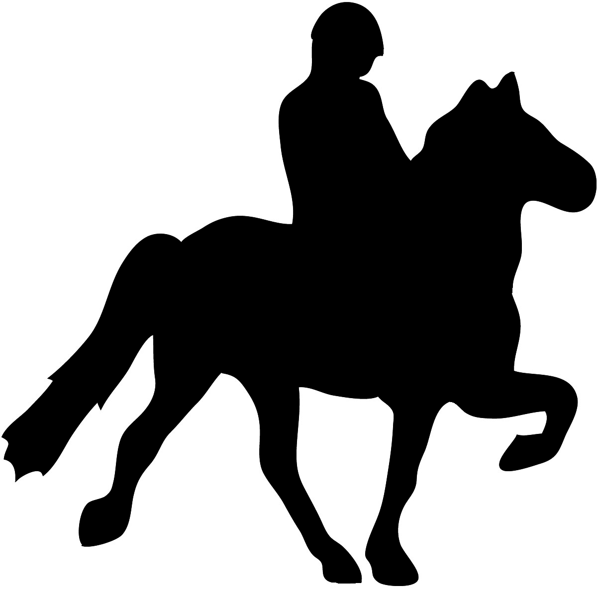 Horse silhouette with rider