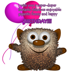 monster birthda clipart greeting