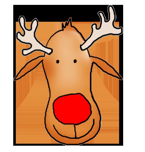 Head of Rudolph the reindeer