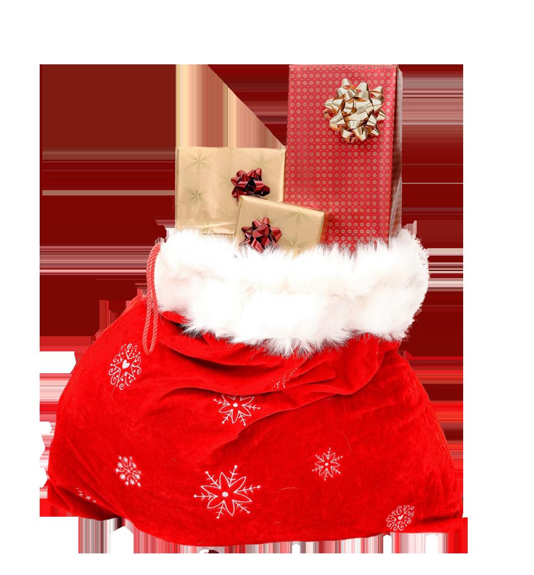 Christmas sack with gifts