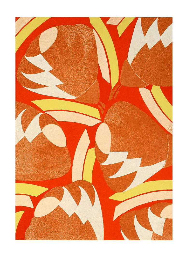 red art deco pattern