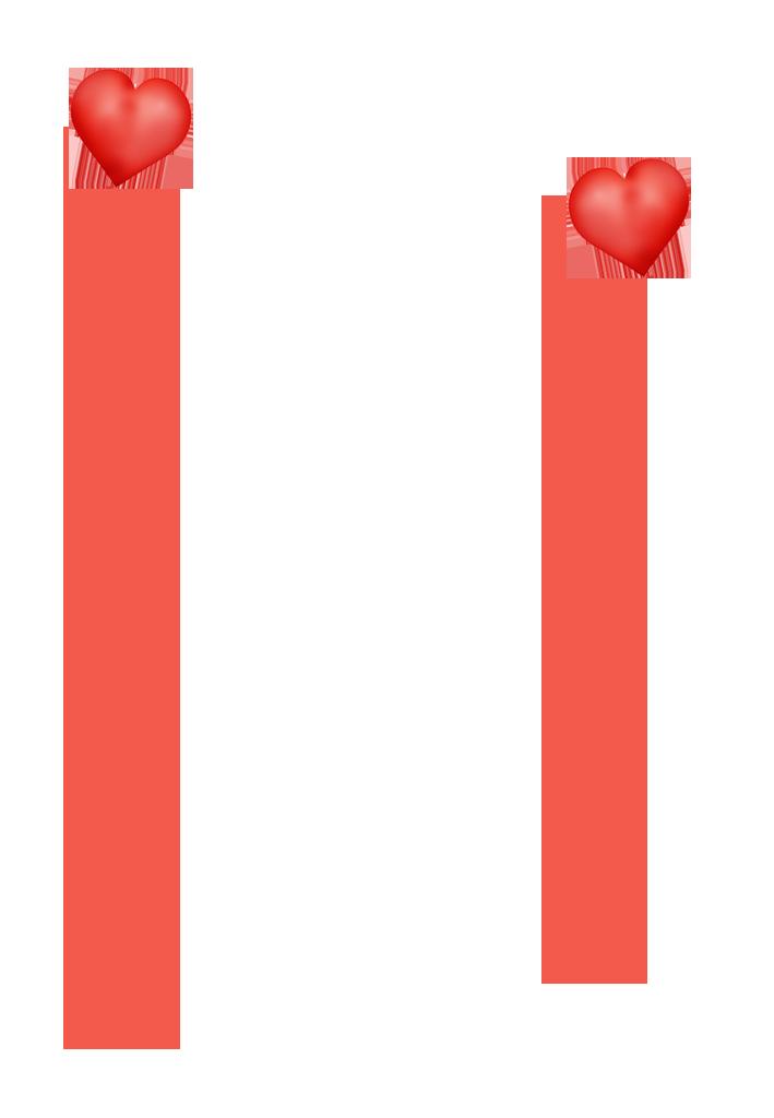 simple Valentine borders
