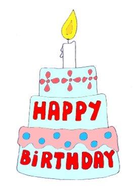 Happy birthday graphics cake candle