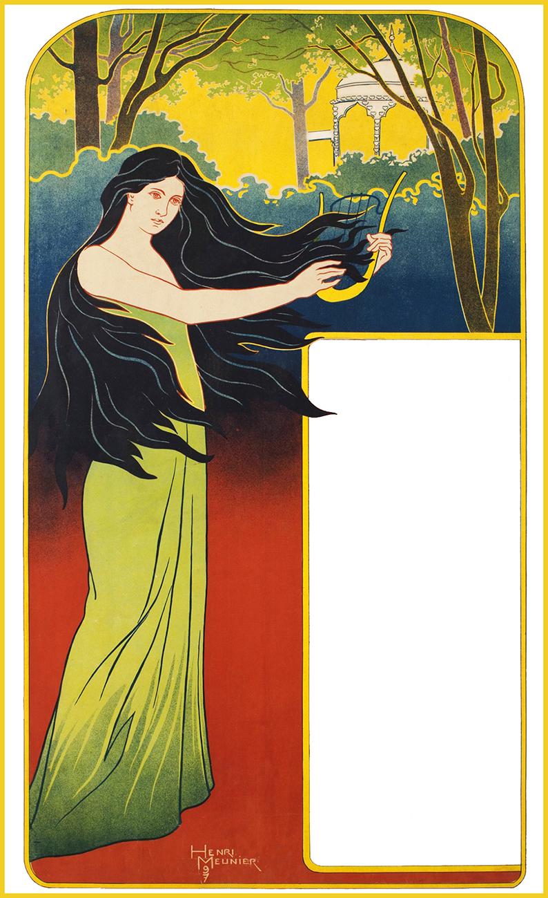 Art Nouveau poster woman