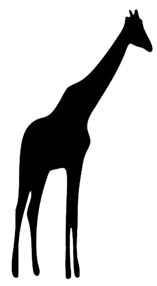 Animal silhouette of giraffe