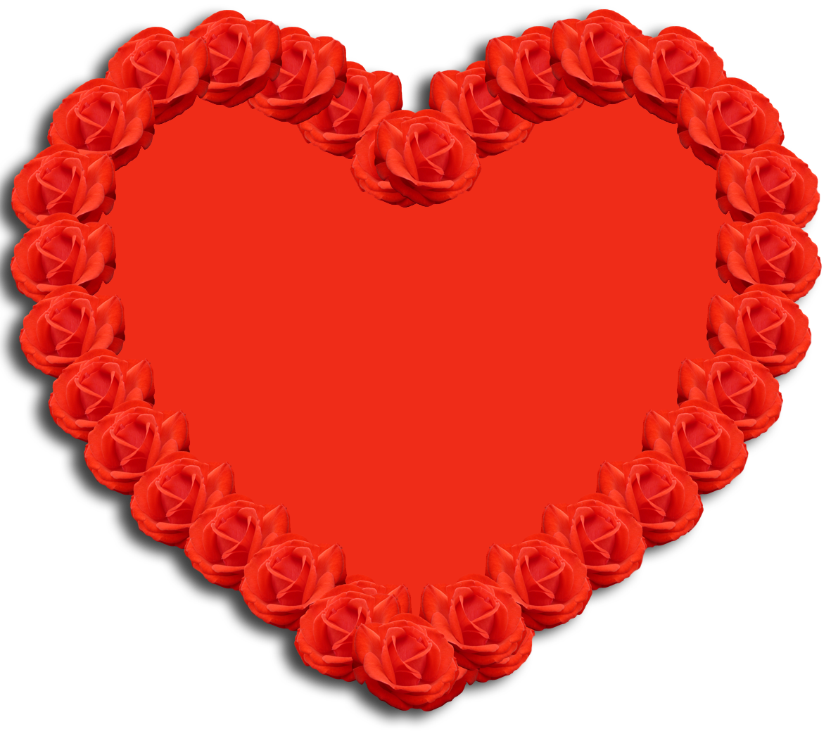 Valentine clipart heart and roses