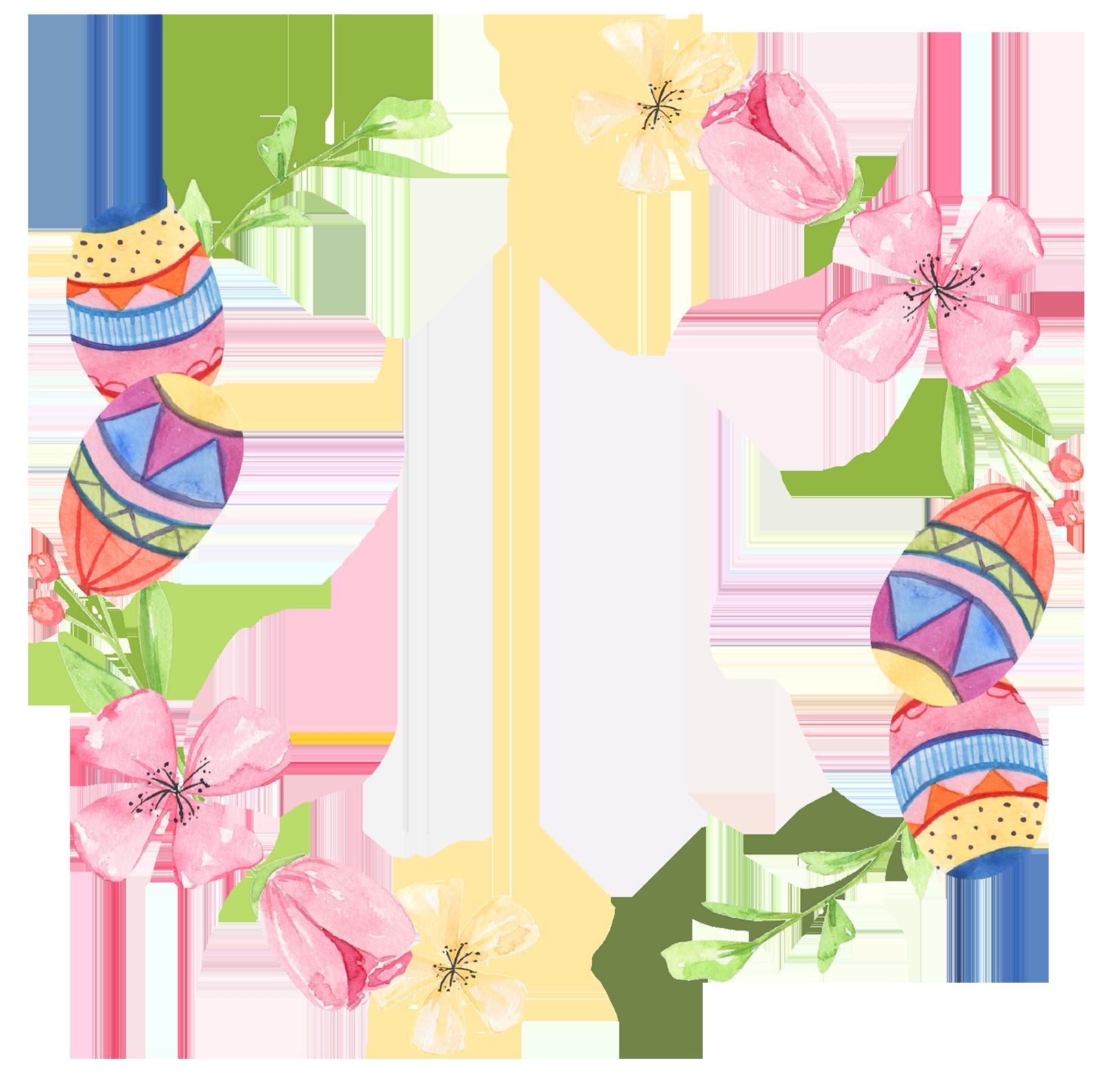 Easter flower egg cirkel