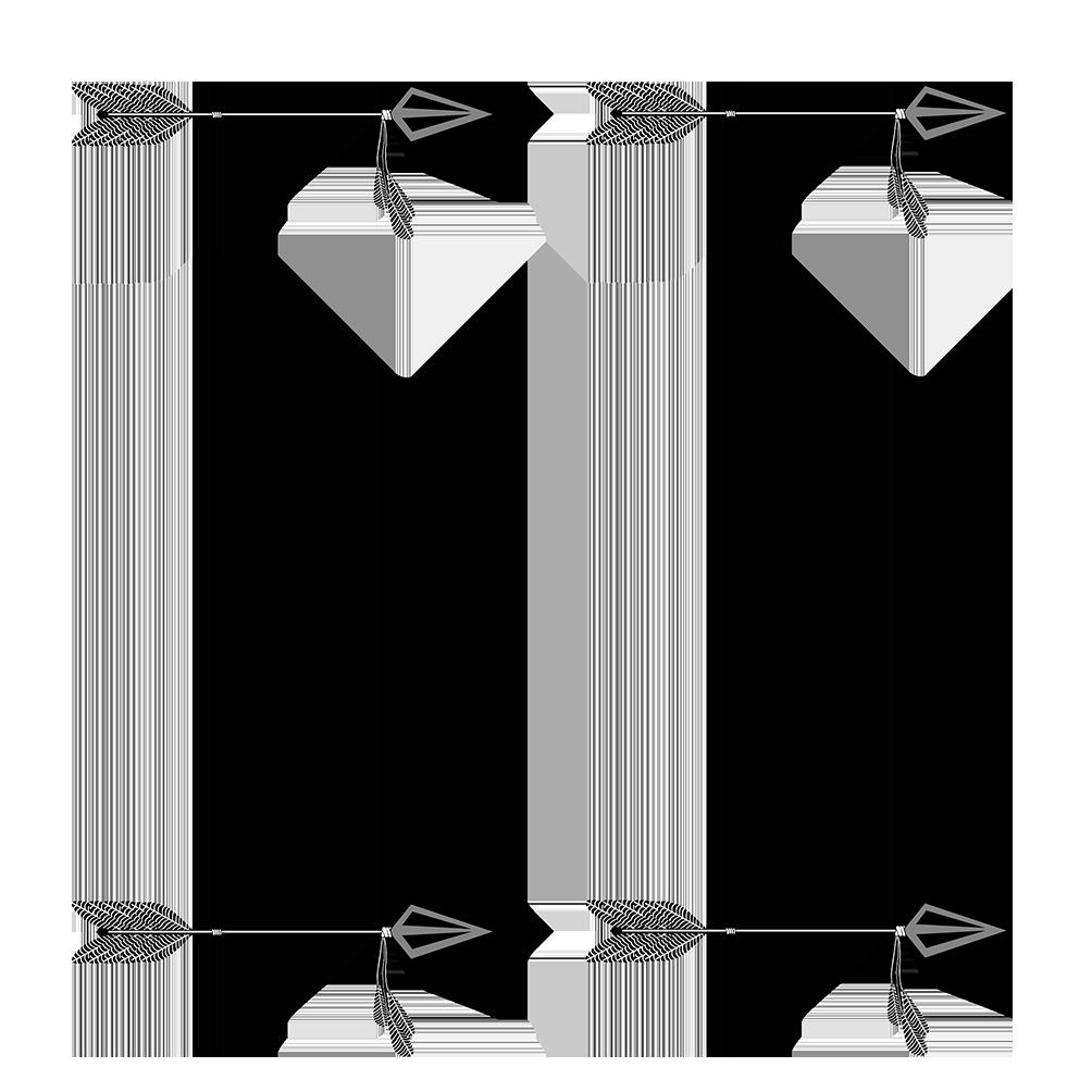 simple frame tribal arrow clipart