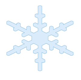 simple snowflake shape