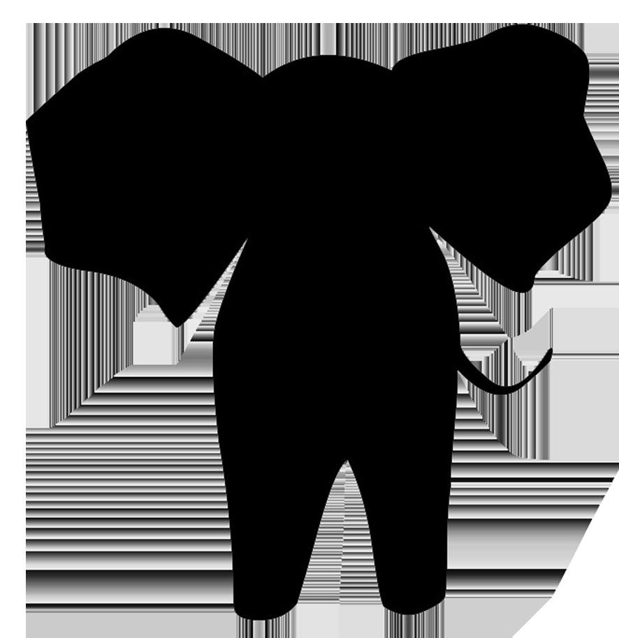 simple elephant silhouette