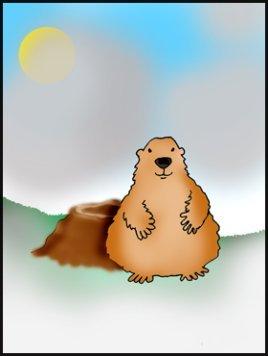 groundhog day pritables no shadow