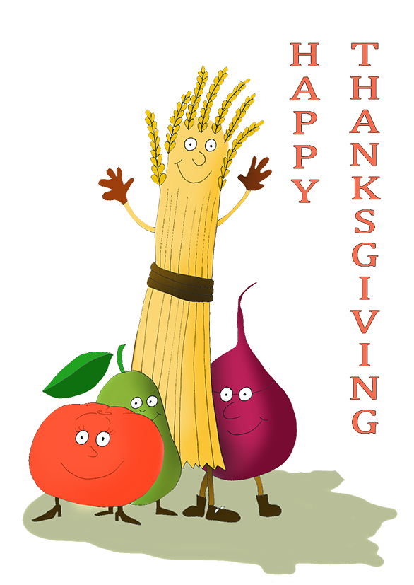 happy Thanksgiving vegetables