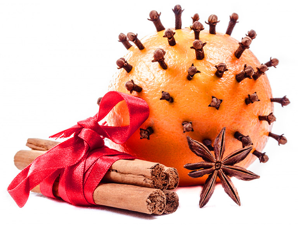 Christmas orange and cinnamon
