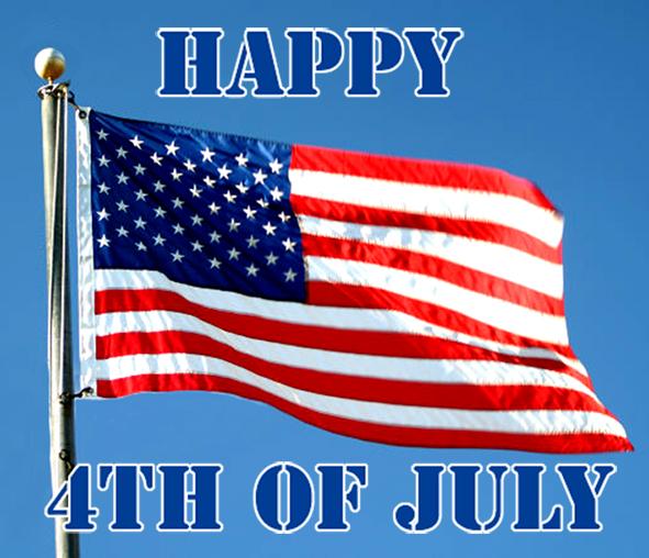 Happy 4th of July flag greetinb