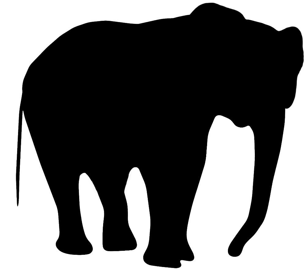 silhouette clip art of elephant