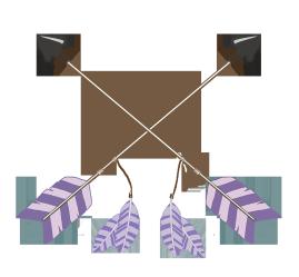 tribal arrows purple crossed