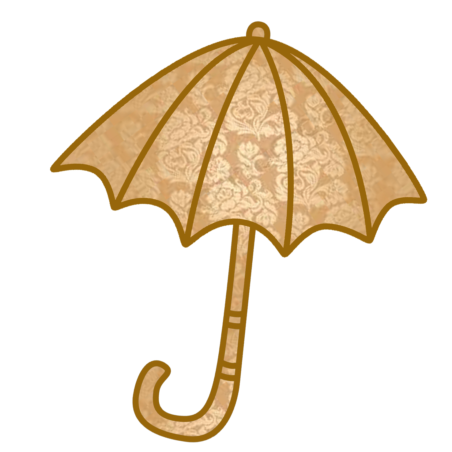 umbrella clipart with golden pattern