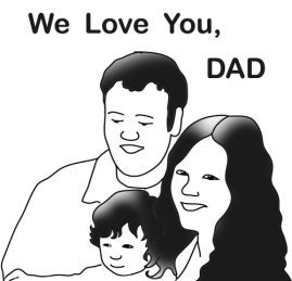 happy family on father's day
