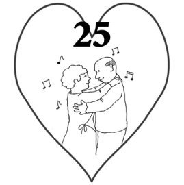 25th wedding anniversary drawing