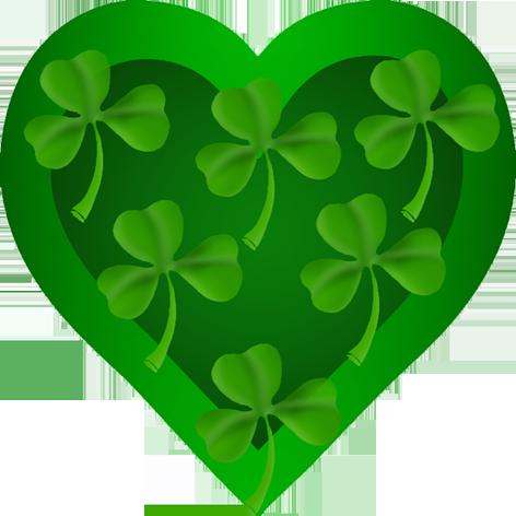 St. Patrick's heart with shamrock