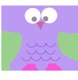 lila funny owl clipart