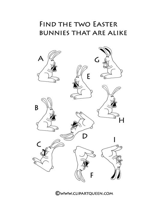 Easter indoor acitivities finding bunnies alike