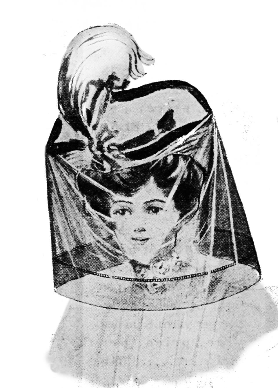 automobile veil for ladies 19th century