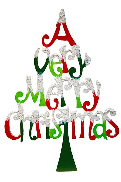 merry Christmas tree greeting