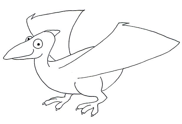 flying dinosaur drawing