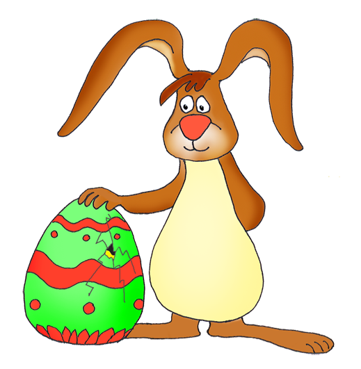 Easter bunny clipart cracked egg