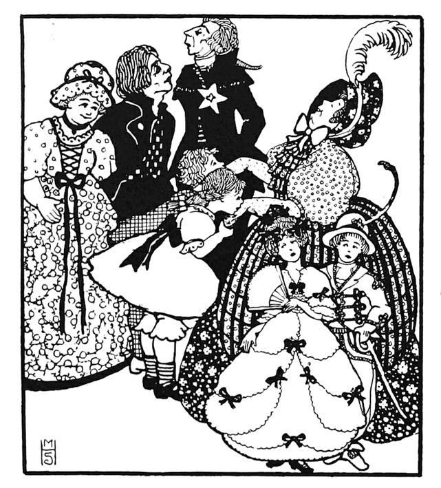 Art nouveau picture of family